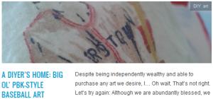LINK a diyer's home big ol' pbk-style baseball art