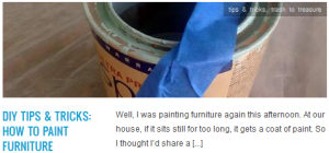 LINK diy tips & tricks how to paint furniture