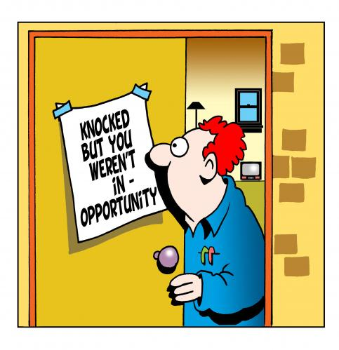 """essay on opportunity knocks the door once By dan oswald abraham lincoln once said """"when opportunity knocks """" when opportunity knocks, will you open the door share this article: print."""