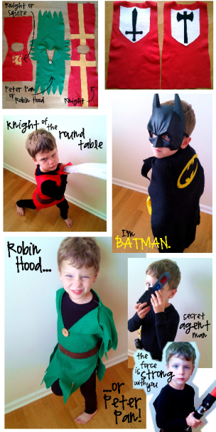 boy costumes collage