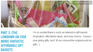 LINK part 2 {the lowdown on even more} fantastic, affordable gift baskets