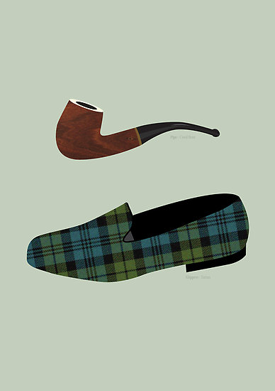 pipe and slippers