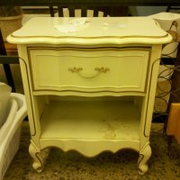 Before & After: Goodwill Bedside Table Goes Powder Pink