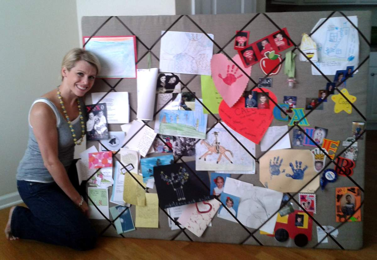 Easy Humongous Diy French Memo Board On The Cheap