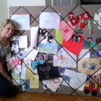 Easy, Humongous, DIY French Memo Board {on the cheap}