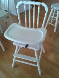 high chair cream
