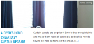 LINK a diyer's home cheap, easy curtain upgrade