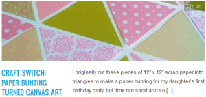 LINK craft switch paper bunting turned canvas art