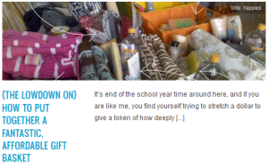 LINK {the lowdown on} how to put together a fantastic, affordable gift basket