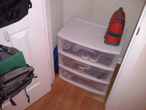 05 mudroom in a closet after