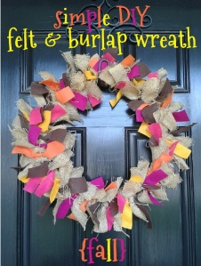 fall autumn felt & burlap wreath