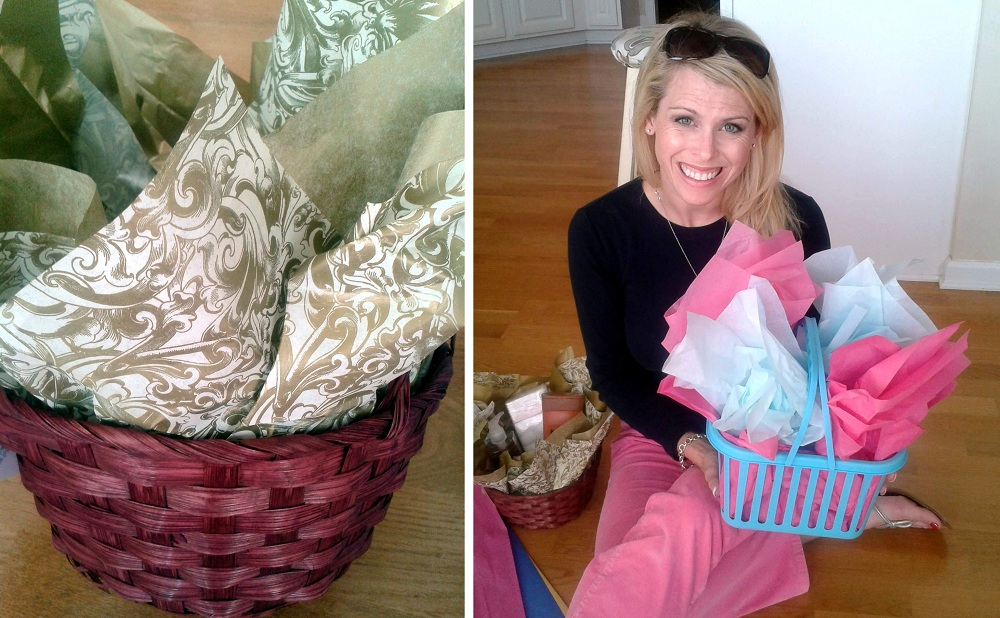simple gift basket for a homeless mom campclem
