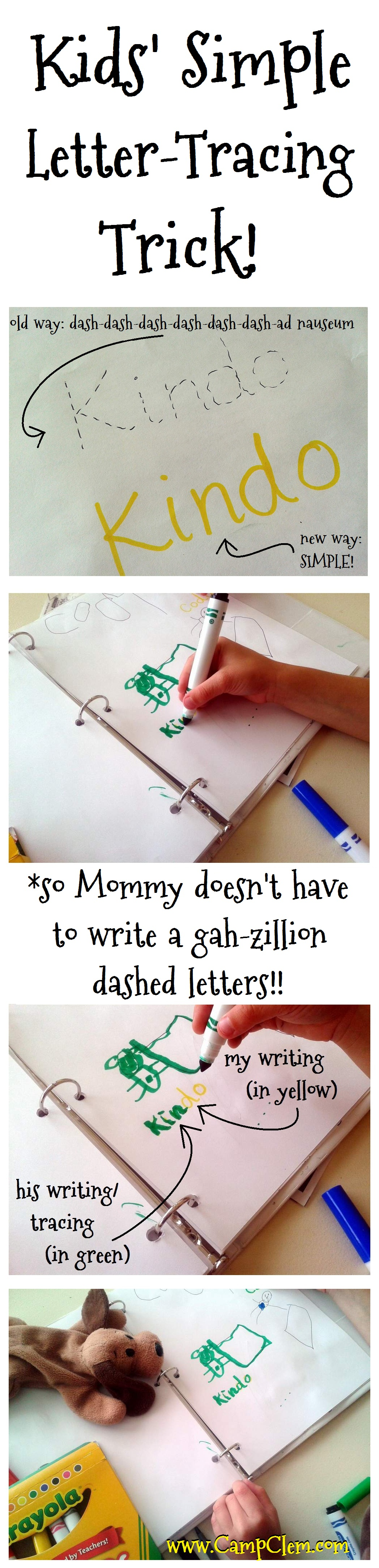 a simple trick for kids letter tracing campclem. Black Bedroom Furniture Sets. Home Design Ideas