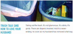LINK trash talk {and how to love your husband}
