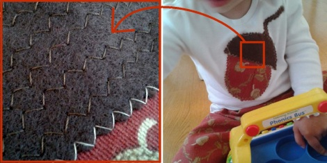acorn outfit acorn top details