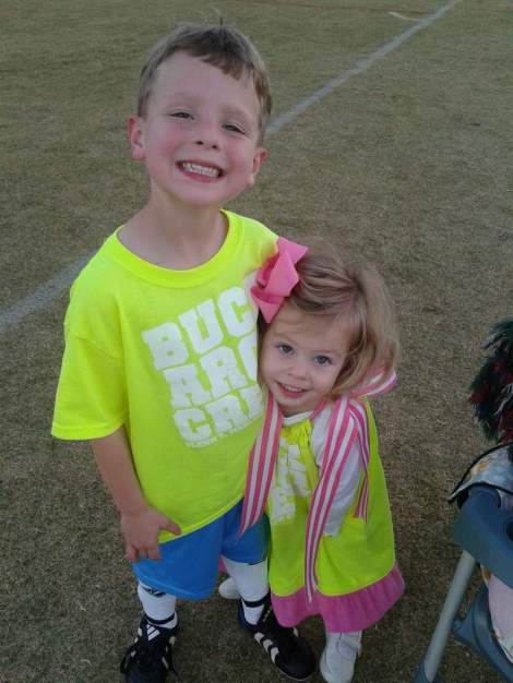 Li'l Bro & Sissy safety green shirts