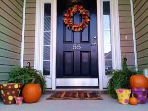 polka dot pots porch