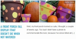 LINK a front porch fall display {that doesn't die when not watered}