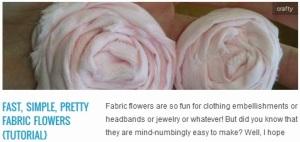 LINK Fast, Simple, Pretty Fabric Flowers {Tutorial}