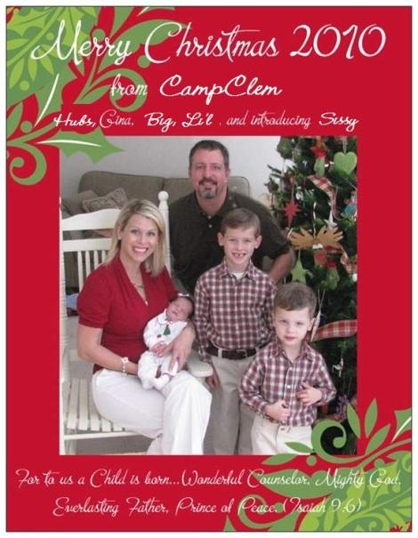 Christmas 2010 card