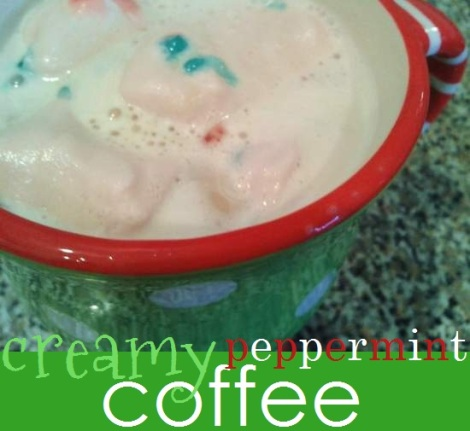 creamy peppermint coffee enjoy