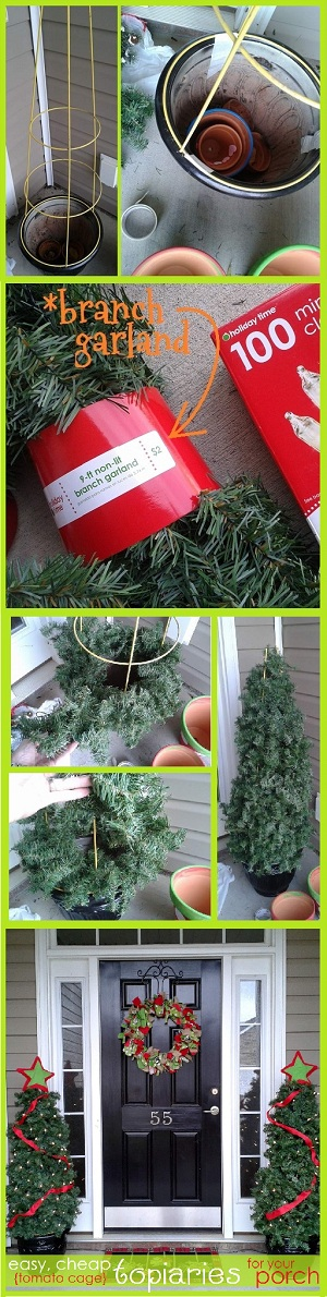 How To Make Easy Diy Tomato Cage Christmas Trees Campclem