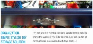 LINK organization simple stylish toy storage solution