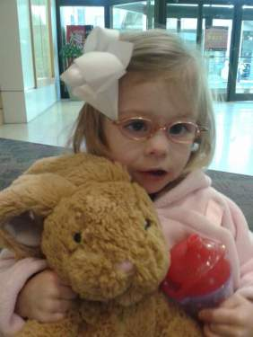 sissy with bunny and glasses