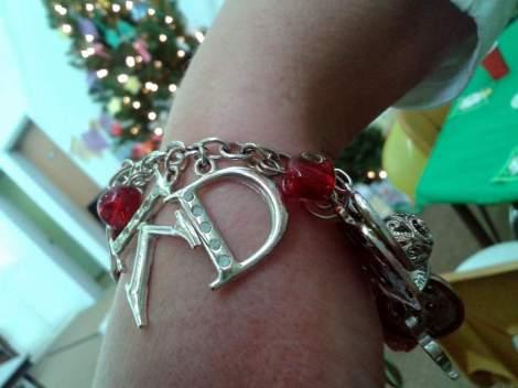 teacher charm bracelet gift'