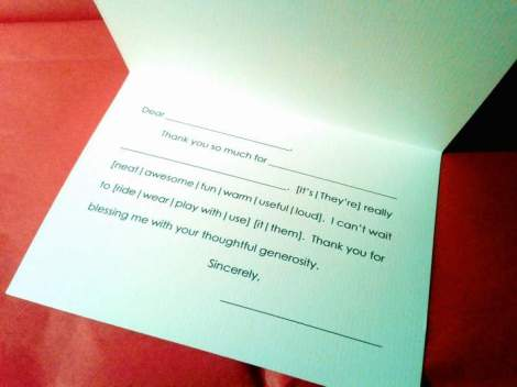 thank you notes headstart color ink