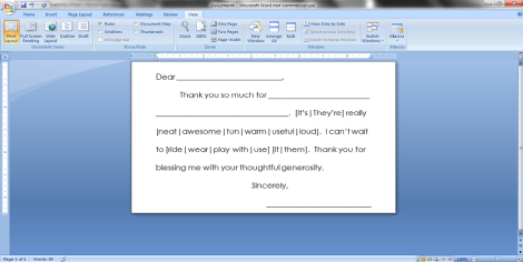 thank you notes jumpstart inside text