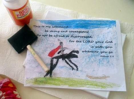 03 kid art God's word canvas supplies