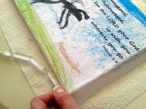 04 kid art God's word canvas trim edges