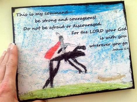 08 kid art God's word canvas