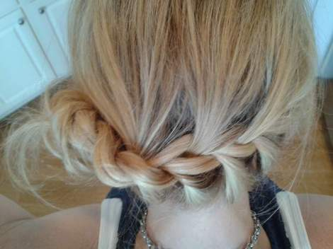10 side chignon back braided