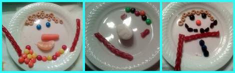 4 melted snowman buffet snowmen