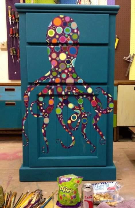 booth 121 furniture shape dresser octopus