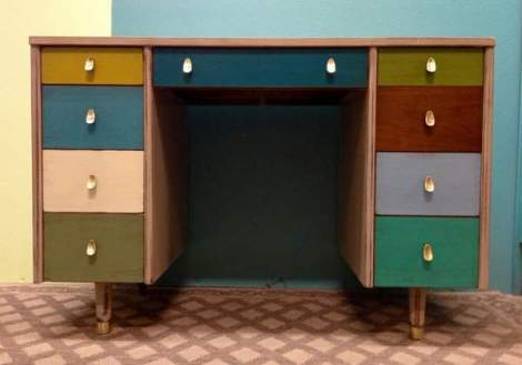 booth 121 furniture stripe desk mid century modern