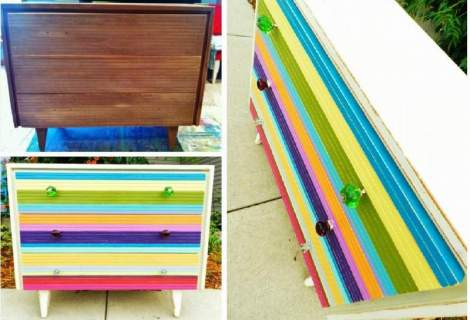booth 121 furniture stripe dresser mid century modern sherbert