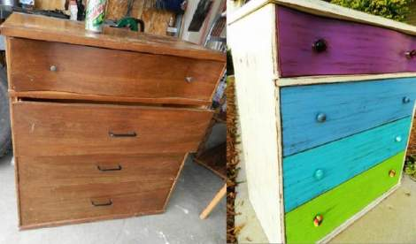 booth 121 furniture stripe dresser purple