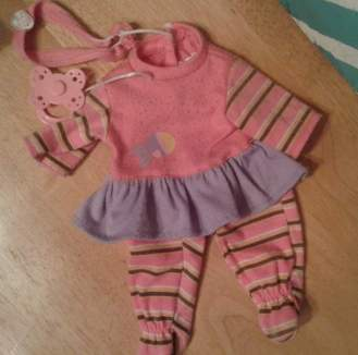 fabric destash babydoll outfit