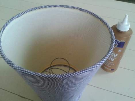 lampshade makeover 10 glue down bottom
