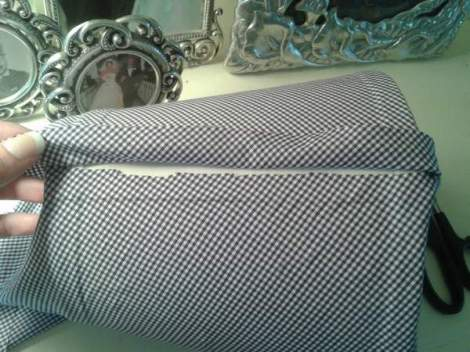 lampshade makeover 6 fold under seam