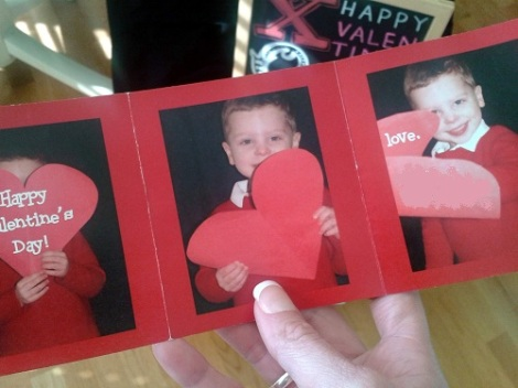 photo valentines trifold open