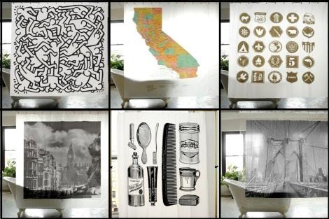 shower curtain art home