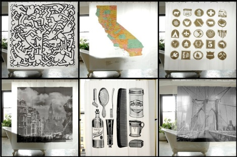 Instant Huge Super-Inexpensive Graphic Art Pieces {using a shower ...