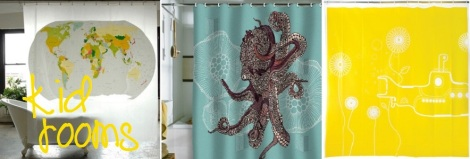 shower curtain art kid rooms