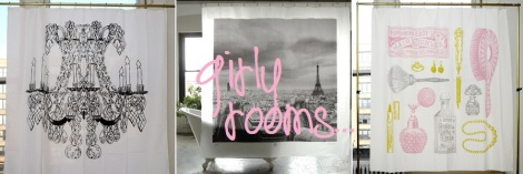 shower curtain girly rooms