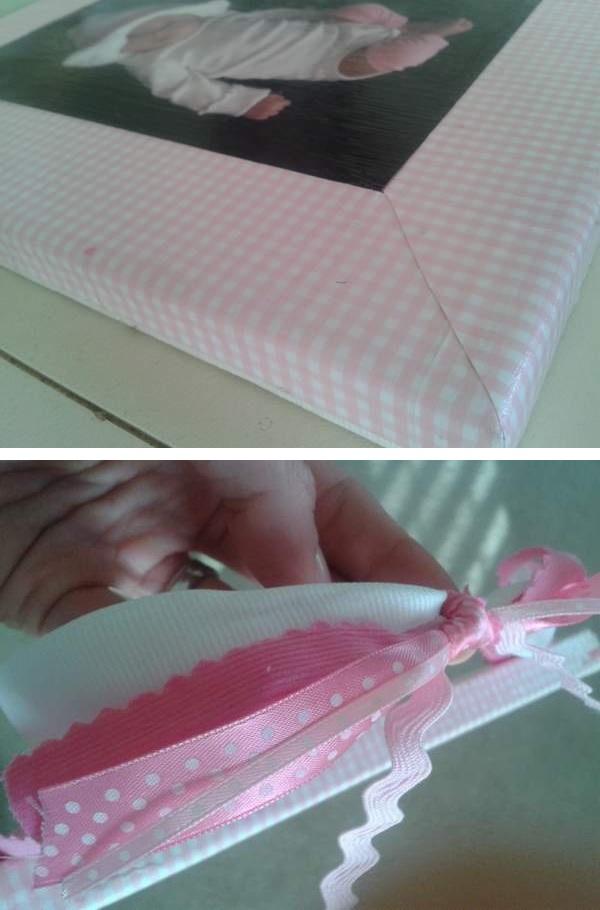Sissy Frames Scrapbook Paper Mitered Corners And Ribbon Hanger
