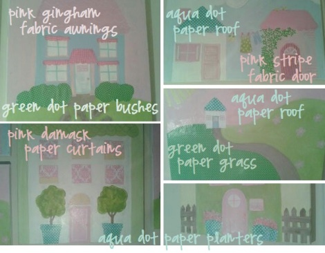 Sissy paintings fabric paper update detail